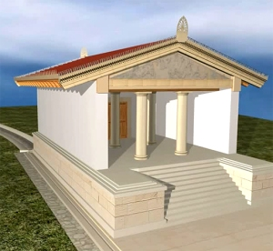 Ricostruzione del Tempio di Talamonaccio. www.parcodeglietruschi.it